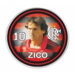 Botão do Flamengo - Zico